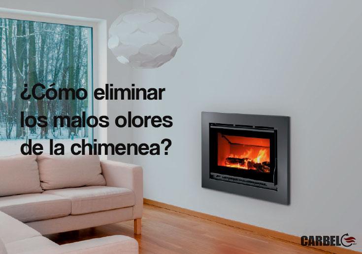 ¿Cómo eliminar los malos olores de la chimeneas abiertas?