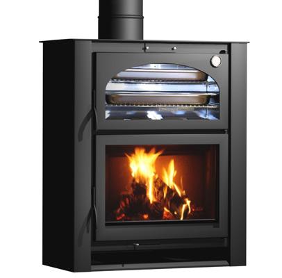 Carbel chimeneas y estufas de le a estufa con horno xlr - Chimenea con horno de lena ...