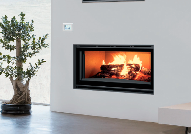 Carbel chimeneas y estufas de le a fireplace h 100 plus for Chimenea empotrada lena